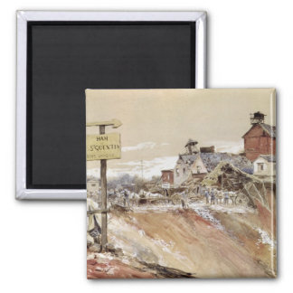 Craters at Ham-Saint-Quentin 2 Inch Square Magnet