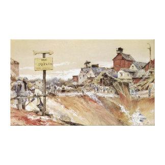 Craters at Ham-Saint-Quentin Canvas Print