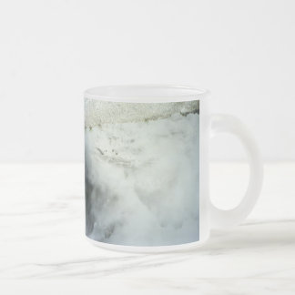 Craters Frosted Glass Coffee Mug