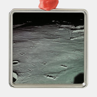 Craters on the moon metal ornament