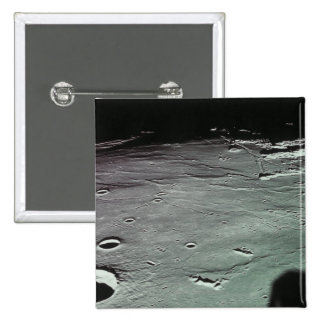Craters on the moon pinback button