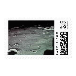 Craters on the moon stamp