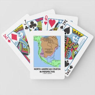 Cratón norteamericano en perspectiva cartas de juego