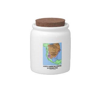 Cratón norteamericano en perspectiva jarra para caramelo