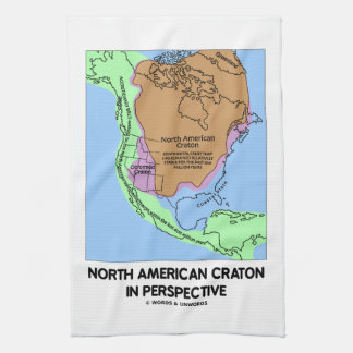 Cratón norteamericano en perspectiva toallas de cocina