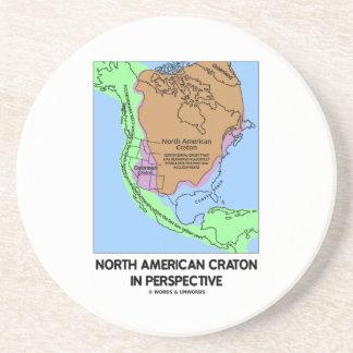 Cratón norteamericano en perspectiva posavasos personalizados