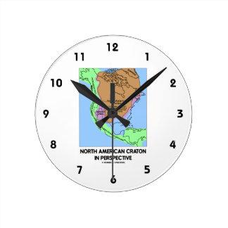 Cratón norteamericano en perspectiva reloj redondo mediano