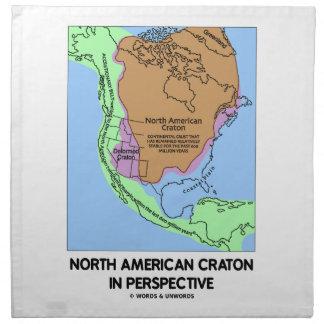 Cratón norteamericano en perspectiva servilleta imprimida
