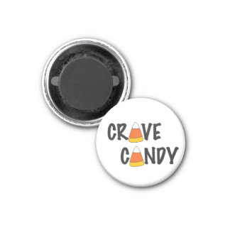 Crave Candy - Halloween Candy Corn 1 Inch Round Magnet