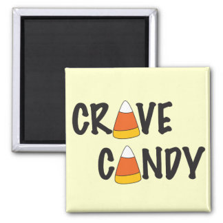 Crave Candy - Halloween Candy Corn 2 Inch Square Magnet