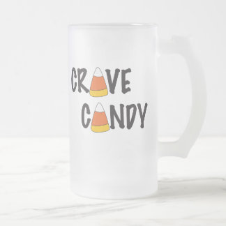 Crave Candy - Halloween Candy Corn Frosted Glass Beer Mug