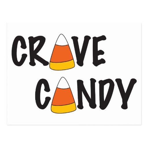 Crave Candy - Halloween Candy Corn Post Cards