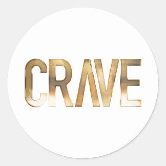 CRAVE CLASSIC ROUND STICKER