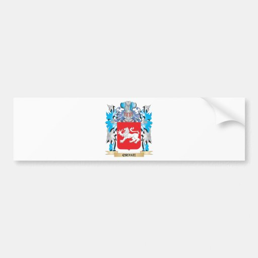 Crave Coat of Arms - Family Crest Bumper Sticker