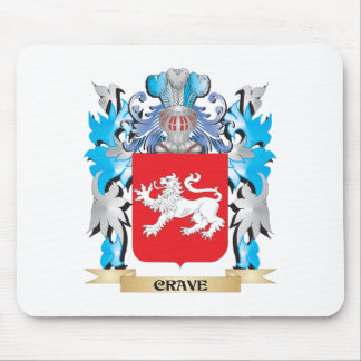 Crave Coat of Arms - Family Crest Mouse Pad