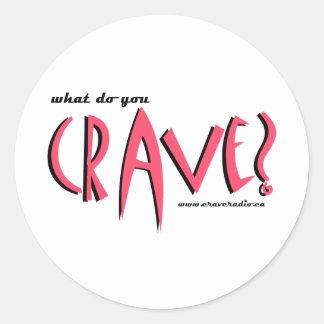 cravedesignpink classic round sticker
