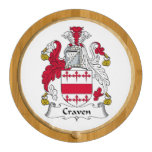 Craven Family Crest Round Cheeseboard