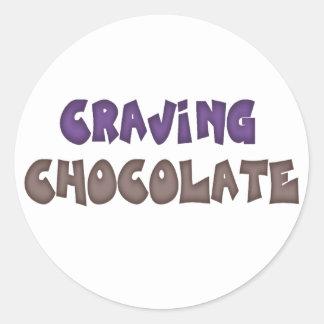Craving Chocolate Classic Round Sticker