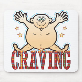 Craving Fat Man Mouse Pad