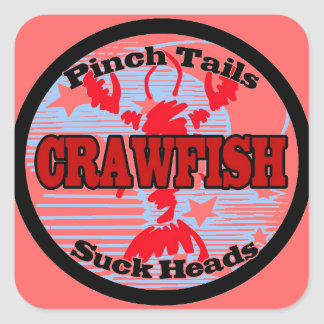 Craw Dat!  Fleur de Lis, Crawfish , Craw Dat Square Sticker