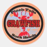 Craw Dat!  Fleur de Lis, Crawfish , Craw Dat Round Sticker