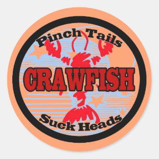 Craw Dat Fleur de Lis Crawfish Craw Dat Round Sticker