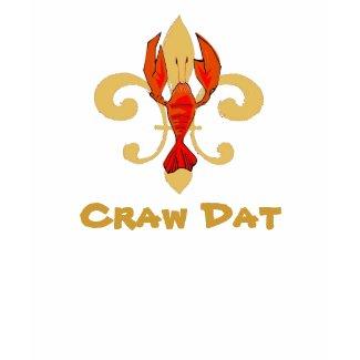 Craw Dat! Fleur de Lis, CrawfishFleur1, Craw Dat shirt