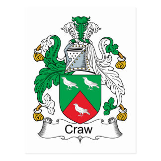 Craw Family Crest Postcard
