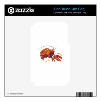 CRAWDAD iPod TOUCH 4G DECALS