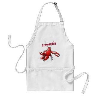 Crawdaddy Red Crayfish Adult Apron