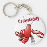 Crawdaddy Red Crayfish Basic Round Button Keychain
