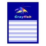 crawfishのシルエット はがき