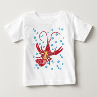 Crawfish 1 With Bubbles Baby T-Shirt