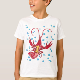 Crawfish 1 With Bubbles T-Shirt