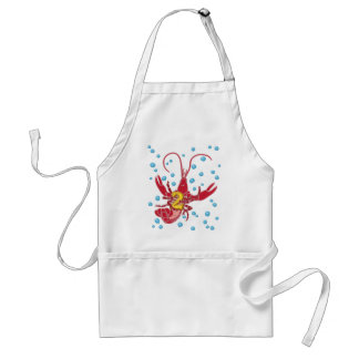 Crawfish 2 With Bubbles Adult Apron
