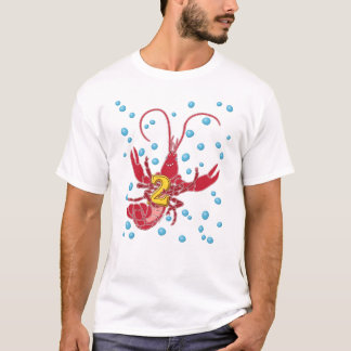 Crawfish 2 With Bubbles T-Shirt