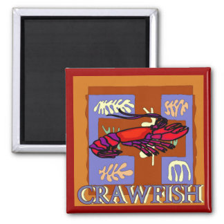 Crawfish Abstract Magnet