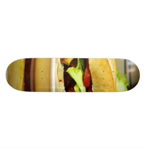 Crawfish And Boudan Pobay Sandwich Custom Skate Board