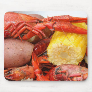 crawfish and corn mouse pad