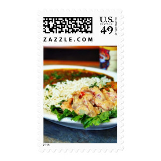 Crawfish At The Rivers Edge Postage Stamps