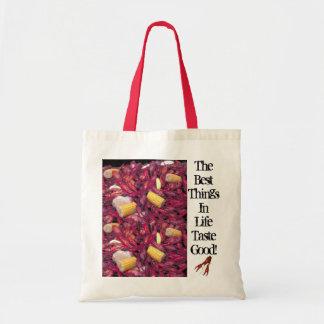 crawfish-bag, best-things-in-life-taste-good budget tote bag