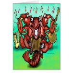 Crawfish Band Greeting Card