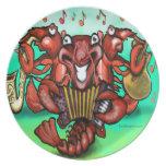 Crawfish Band Melamine Plate