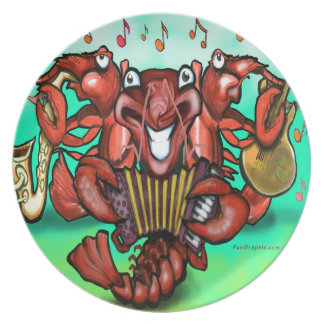 Crawfish Band Melamine Plate