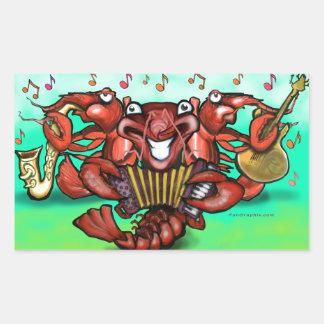 Crawfish Band Rectangular Sticker