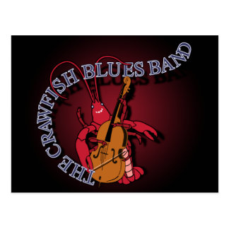 Crawfish Blues Band Bassist Postcard