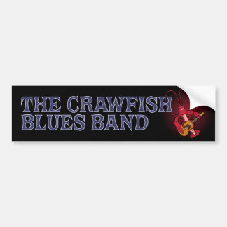 Crawfish Blues Band Guitar Bumper Sticker