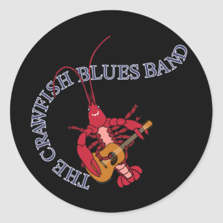 Crawfish Blues Band Guitar Player Classic Round Sticker