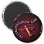 Crawfish Blues Band Harmonica 2 Inch Round Magnet