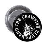 Crawfish Blues Band (white) Button